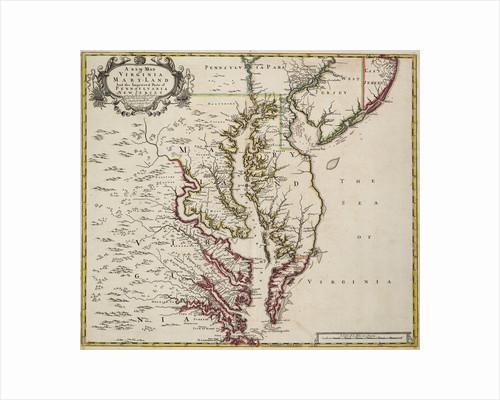 Map of Virginia by John Senex