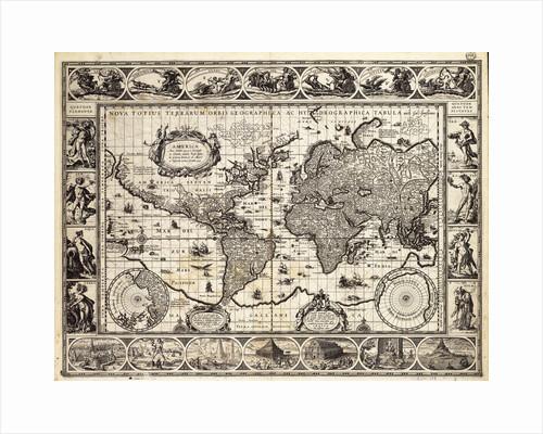 Mercator map of the world, 1606 by W.J. Blaeu