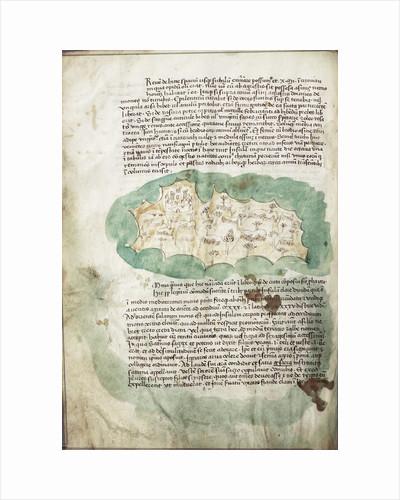 Chart of Antikithira, Ionian Sea by Cristoforo Buondelmonti