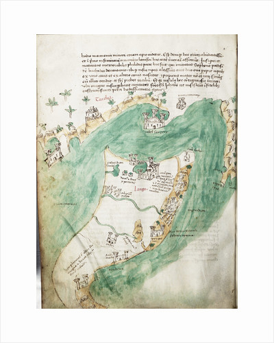 Chart of Kos and Bodrum by Cristoforo Buondelmonti