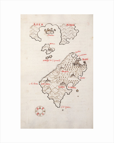 Rhodes, Simi and the adjacent coast by Antonio Millo