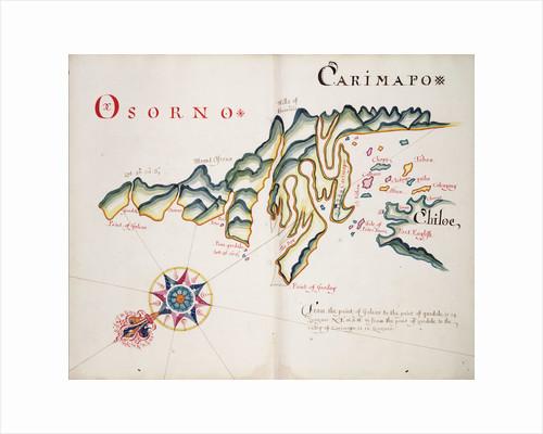 Osorno and Carimapo, South American Pacific coast by William Hack