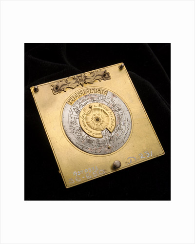 Crescent dial, underside of base by Johann Martin