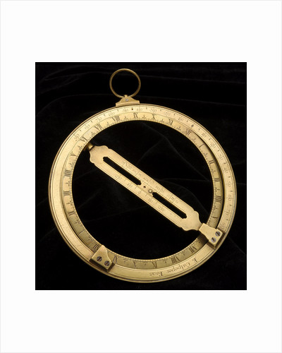 Universal equinoctial ring dial by Edmund Culpeper