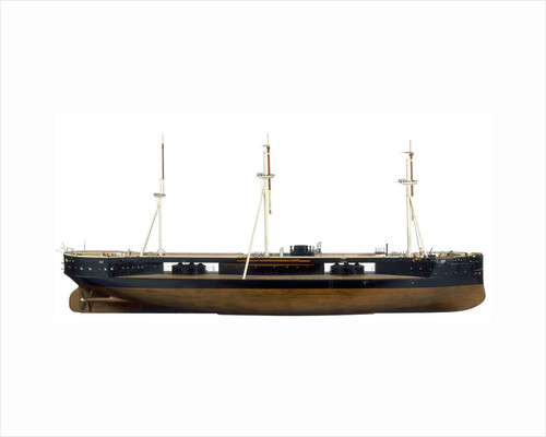 Model of HMS 'Captain' (1869) by unknown