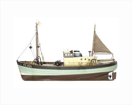 'Ocean Harvester', port broadside by Graham Caird