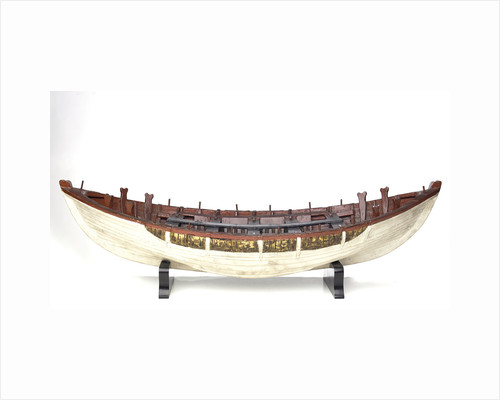 Full hull model, shields lifeboat, broadside by unknown