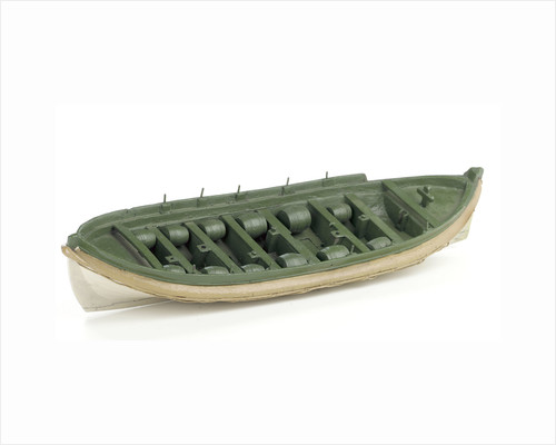 Full hull model, Costain's lifeboat, port by Thomas Costain