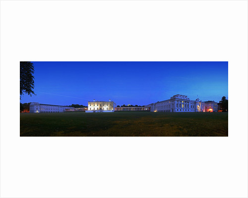 Panoramic evening view of the Queen's House and National Maritime Museum, Greenwich by National Maritime Museum Photo Studio