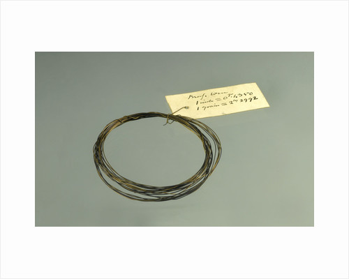 Roll of brass wire in a bag by unknown