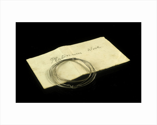 Platinum wire in an envelope by unknown