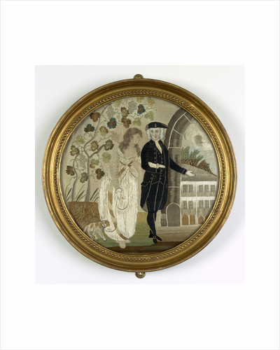 Silk picture in a frame by Emma Hamilton