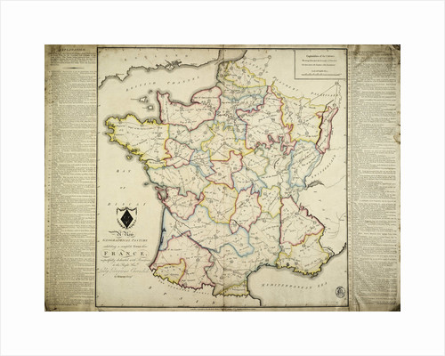 A new geographical pastime exhibiting a complete tour thro' France respectfully dedicated with permission to the Right Honble Lady Georgiana Cavendish by J. Enouy