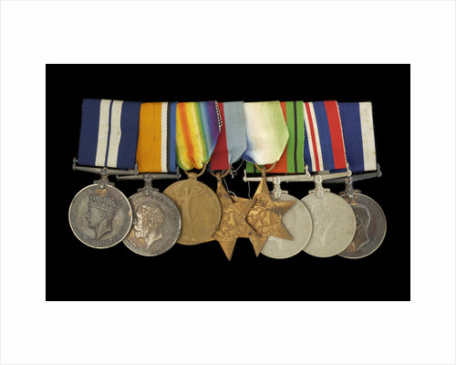 Medals awarded to P. S. N. SMITH CPO RN (obverse, l to r, MED1196-1203) by unknown
