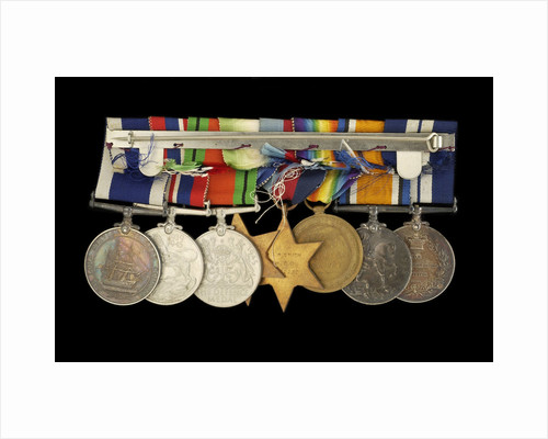 Medals awarded to P. S. N. SMITH CPO RN (reverse, r to l, MED1196-1203) by unknown