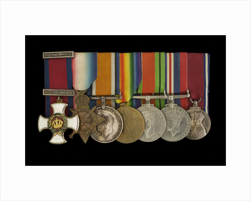Medals awarded to Captain C. H. Allen DSO RN (obverse, l to r, MED1163-1169) by W. Wyon