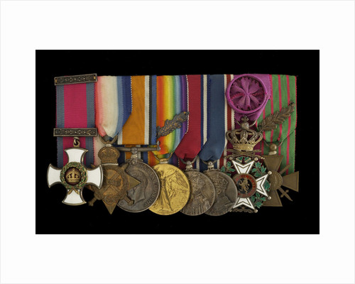 Medals awarded to Captain E. Wigram DSM RN (obverse, left to right, MED1219-1226) by W. Wyon