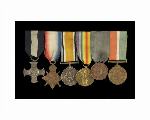 Medals awarded to Commander H. J. Bray DSC (obverse, left to right, MED1093-1098) by unknown