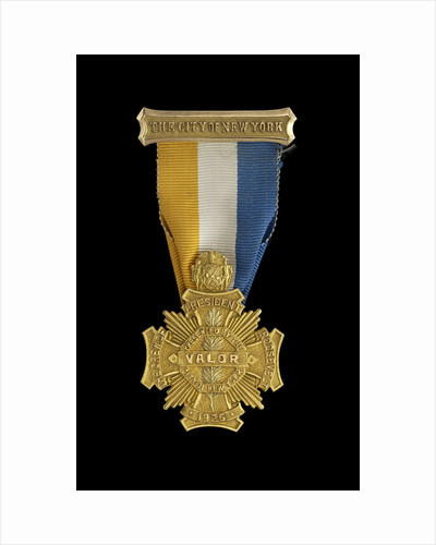 City of New York Gold Cross for Valor, obverse by unknown