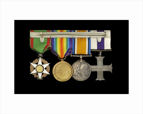 Medals awarded to Lieut Michael Isaacs MC RNVR (reverse, r to l, MED2606-2609) by unknown