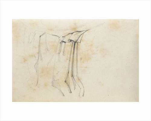 A study of drapery (verso) by Thomas Baxter