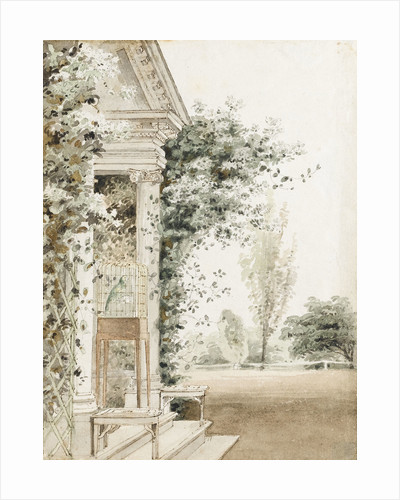A portico at Merton, probably the main entrance by Thomas Baxter