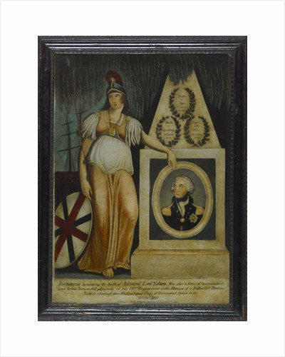 Britannia lamenting the death of Admiral Lord Nelson' by W.B. Walker
