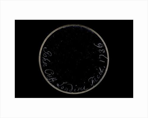 Pocket telescope - objective lens inscription by John Cuff