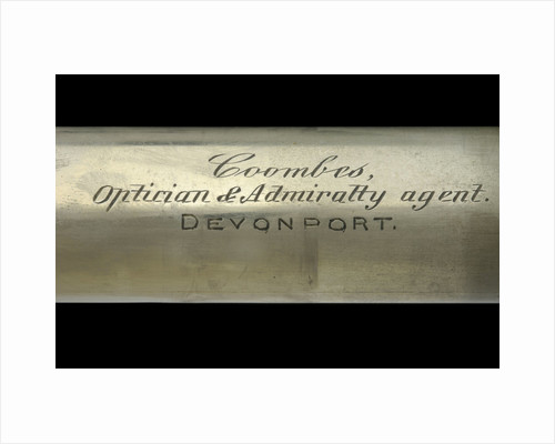 Officer of the Watch telescope- draw tube inscription by Coombes