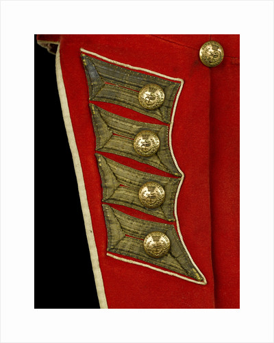 Coatee - tail detail, Royal Marines uniform: pattern 1830 by unknown