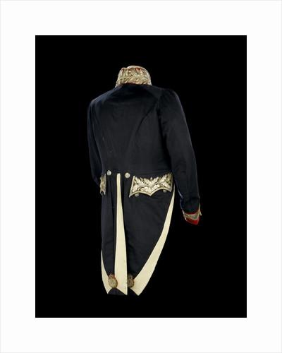 Full dress coat - back, Civil court dress: 1837 by Boggett & Co.