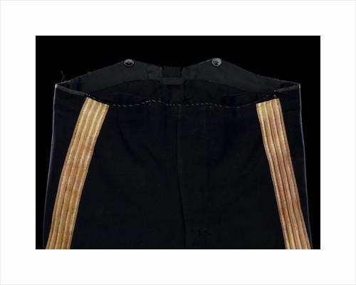 Full dress trousers, Royal Naval uniform: pattern 1856 by Landon & Co.