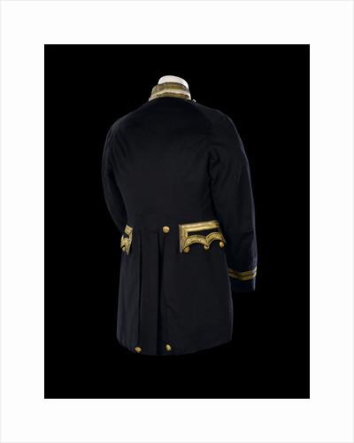 Full dress coat - back, Royal Naval uniform: possibly pattern 1856-1891 by Gillott & Hasell