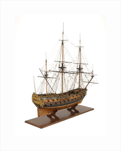 Ship of 50 guns, starboard stern quarter by unknown