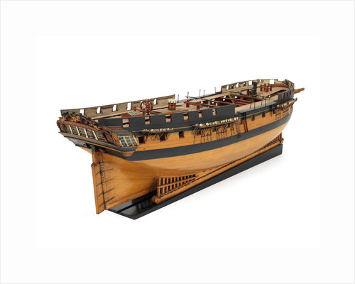 Ship of 36 guns, starboard stern quarter by unknown