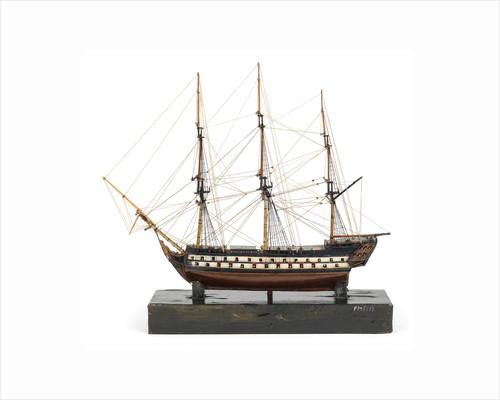 Two-decker, port broadside by unknown