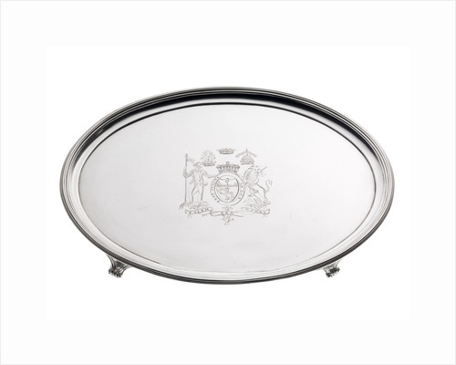Silver salver with the arms of Vice-Admiral Lord Nelson (1758-1805) by John Harris