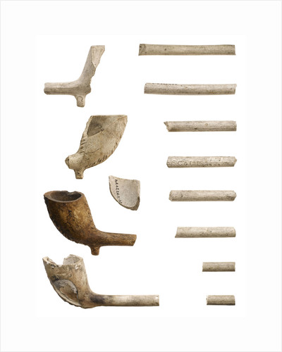 Clay pipe by T. Pescall
