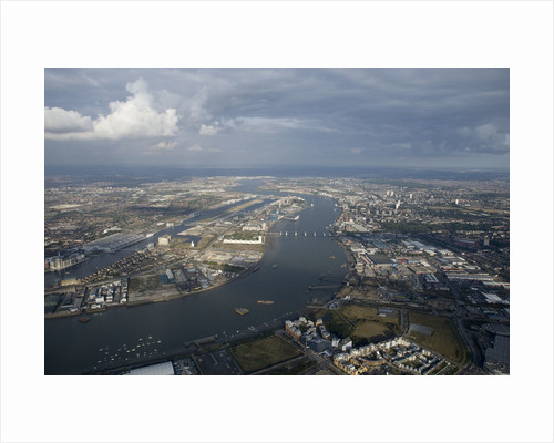 Aerial view of National Maritime Museum, Greenwich and river Thames by National Maritime Museum Photo Studio