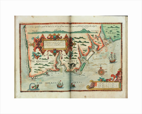 A description of the sea coastes, of the land of Algarbe, and a parte of the Condado with their shew & opening by Lucas Janz Waghenaer