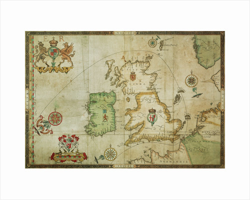 The route track of the Spanish Armada through the English Channel, into the North Sea, around Northern Scotland and into the Atlantic Ocean to return to Spain by Robert Adams