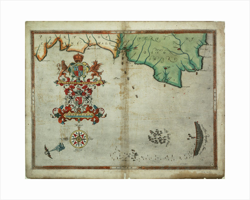 The English and Spanish fleets on 1 - 2 August, 1588 by Robert Adams