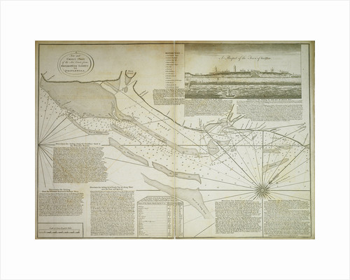 A new and correct chart of the sea coast, from Orfordness Lights to Prittlewell by John Diston