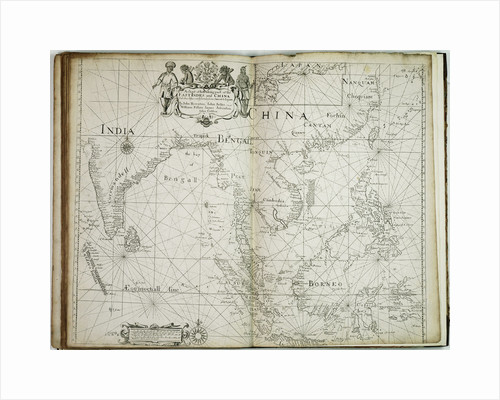 A chart of the trading part of the East Indies and China, with the adjacent islands, from Surrat to Japan by John Seller