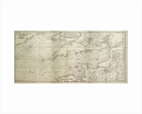 A new hydrographical survey of the British Channel, with part of the Atlantic Ocean as far as Cape Clear, improved from the large chart of the late Thomas Jeffery's Geographer to the King by Robert Sayer; John Bennett