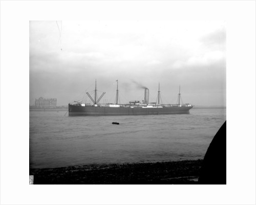'Ayrshire' (Br, 1903) anchored on the River Thames at Tilbury by unknown
