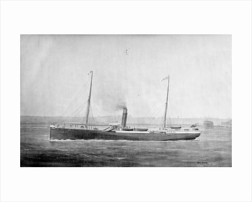 'Marmion' cargo steamer, short sea, copy of a painting by unknown
