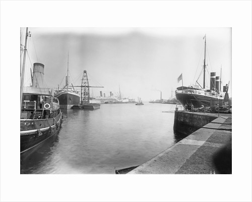 The Empress Docks at Southampton with tug 'Ajax', 'Amazon' and 'St Paul' by unknown
