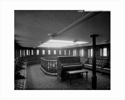 First Class Music Room on the 'Rome' (1881) by Bedford Lemere & Co.