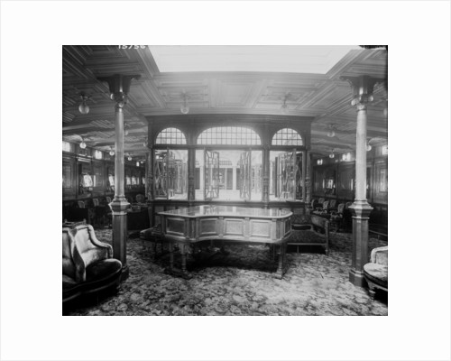First Class Music Room on the 'Lucania' (1893) by Bedford Lemere & Co.